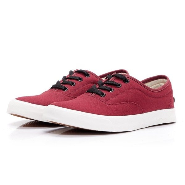 Red sustainable shoes by LEAF